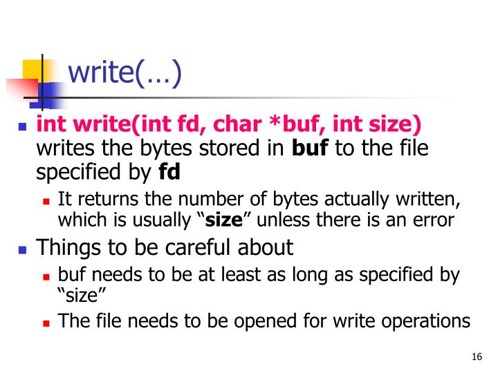 write(…)