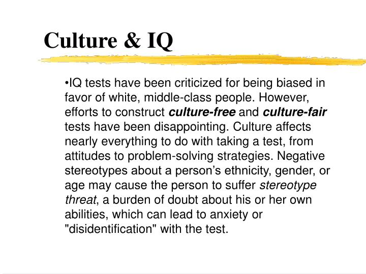 Culture & IQ