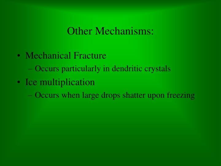 Other Mechanisms: