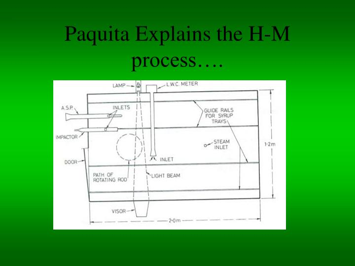 Paquita Explains the H-M process….