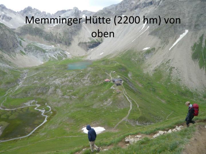 Memminger Hütte (2200 hm) von oben