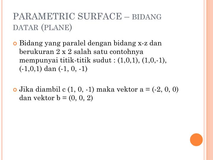 PARAMETRIC SURFACE –