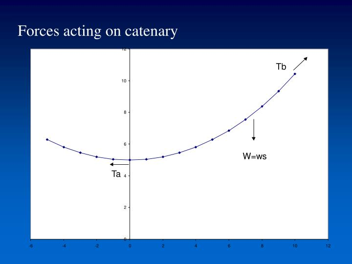 Forces acting on catenary