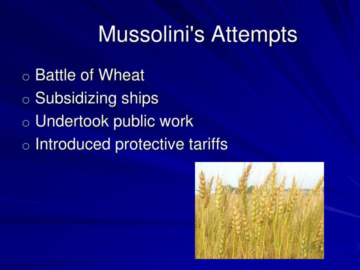 Mussolini's Attempts