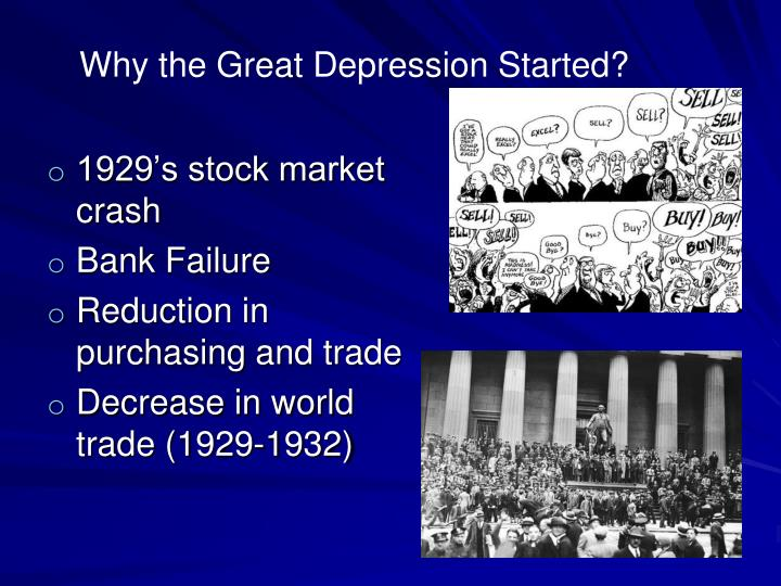 Why the Great Depression Started?