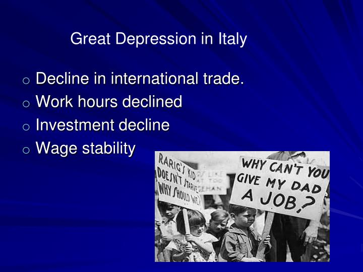 Great Depression in Italy