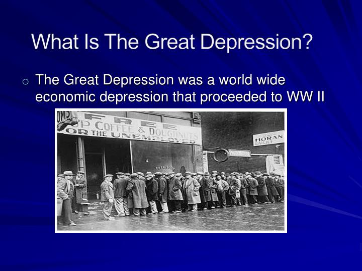 What Is The Great Depression?