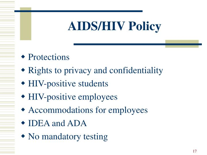 AIDS/HIV Policy