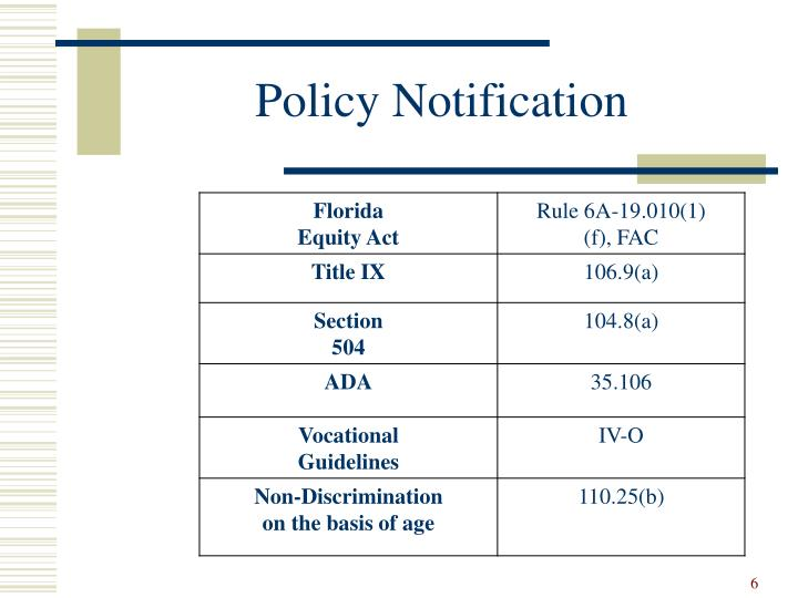 Policy Notification