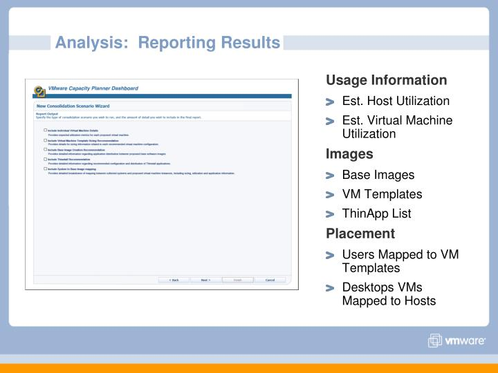Analysis:  Reporting Results