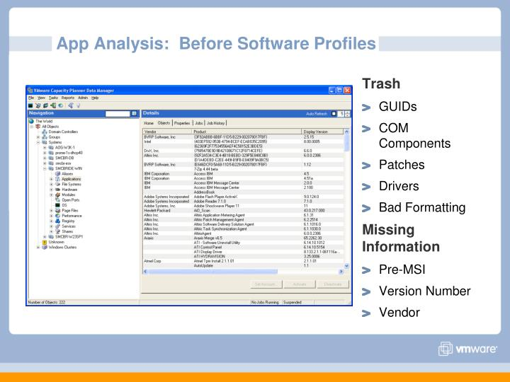 App Analysis:  Before Software Profiles