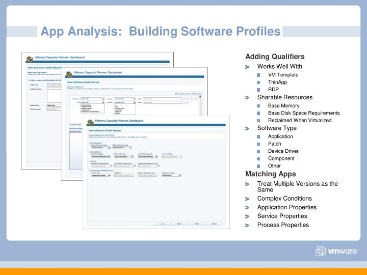 App Analysis:  Building Software Profiles