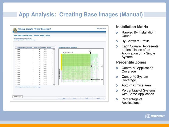 App Analysis:  Creating Base Images (Manual)