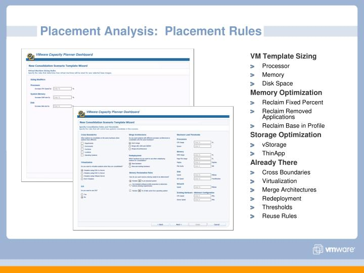 Placement Analysis:  Placement Rules