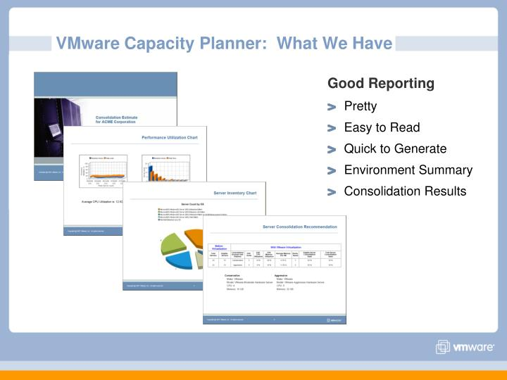 VMware Capacity Planner:  What We Have