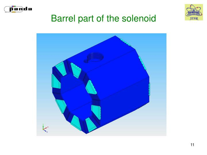 Barrel part of the solenoid