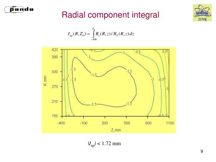 Radial component integral