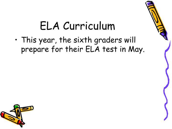 ELA Curriculum