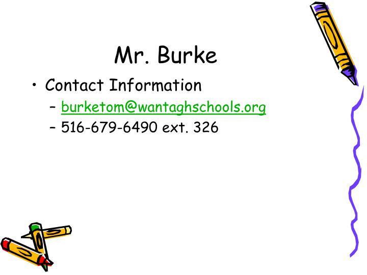 Mr. Burke
