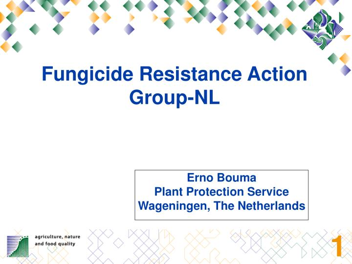 Fungicide Resistance Action Group-NL