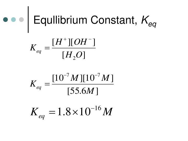 Equllibrium Constant,