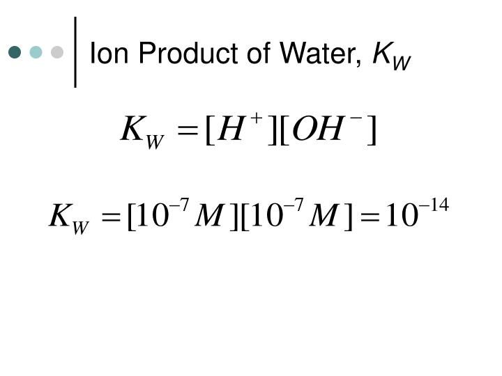 Ion Product of Water,