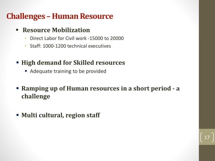 Challenges – Human Resource