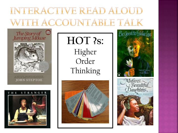Interactive Read Aloud with Accountable Talk