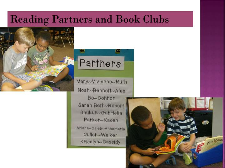 Reading Partners and Book Clubs
