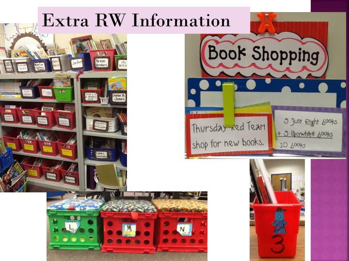 Extra RW Information