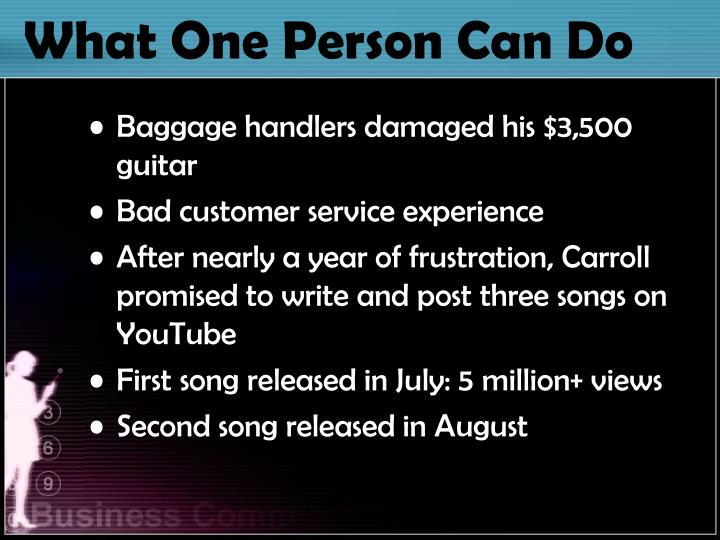 What One Person Can Do