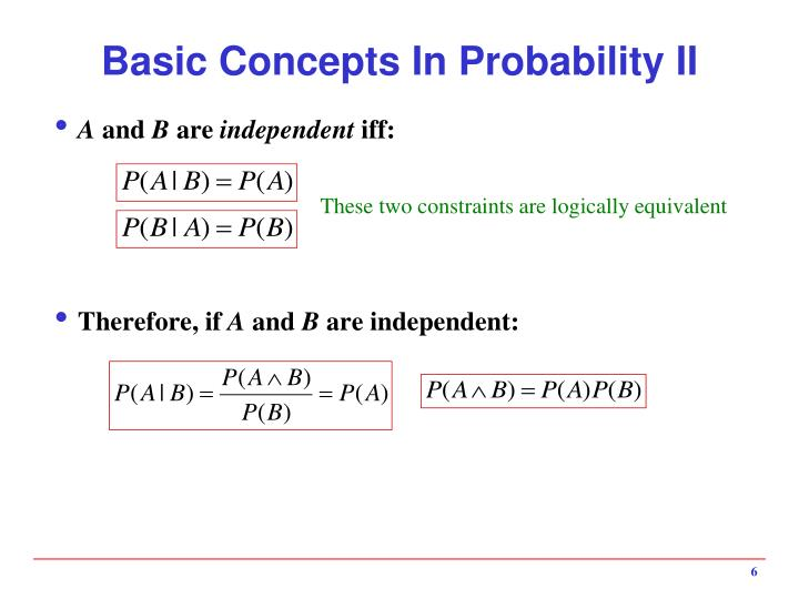 Basic Concepts In Probability II