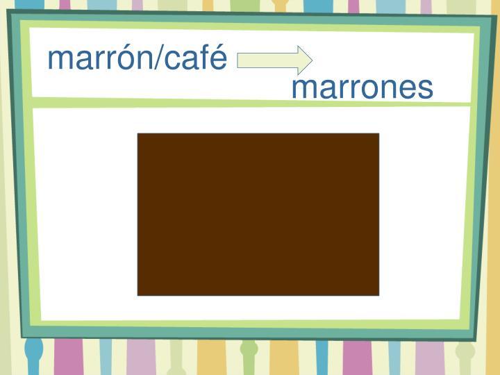 marrón/café