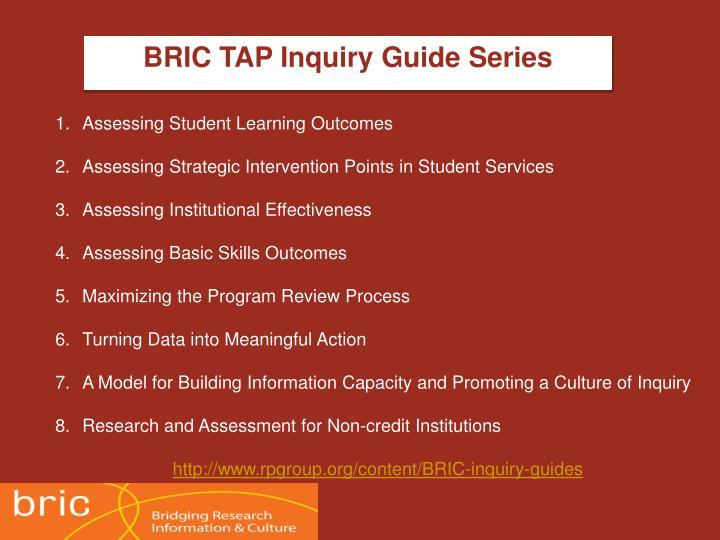 BRIC TAP Inquiry Guide Series