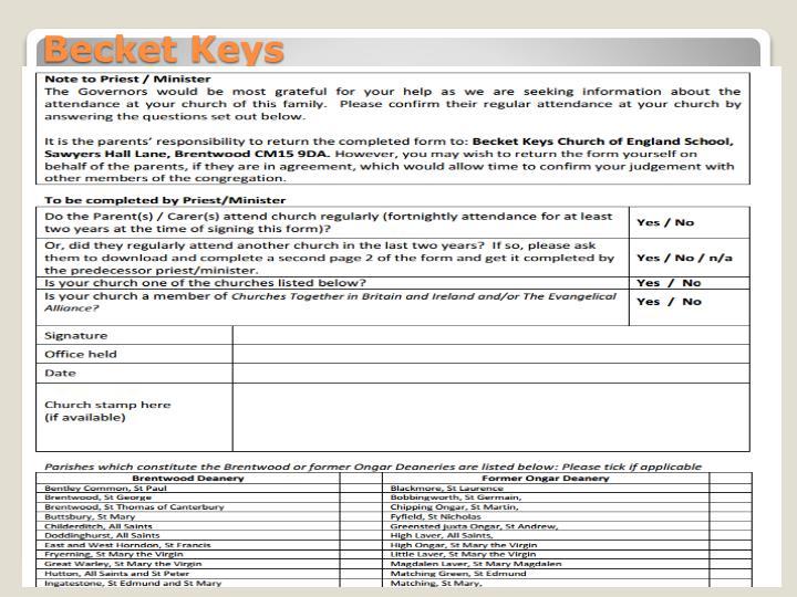 Becket Keys