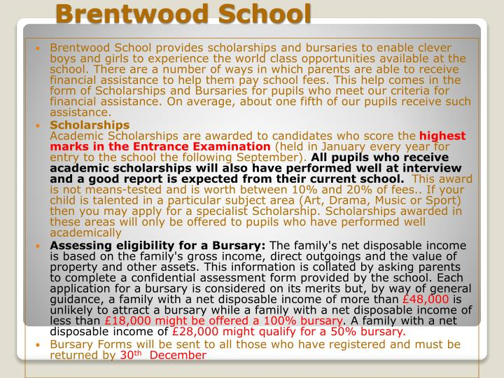 Brentwood School provides scholarships and bursaries to enable clever boys and girls to experience the world class opportunities available at the school. There are a number of ways in which parents are able to receive financial assistance to help them pay school fees. This help comes in the form of Scholarships and Bursaries for pupils who meet our criteria for financial assistance. On average, about one fifth of our pupils receive such assistance.