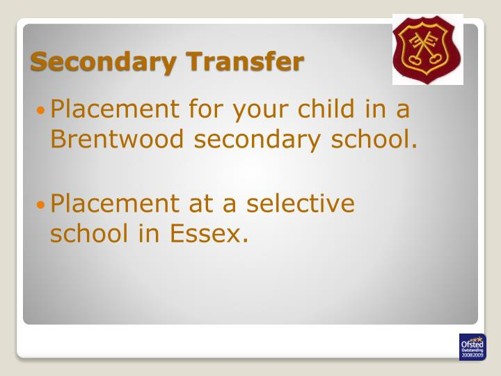 Secondary transfer