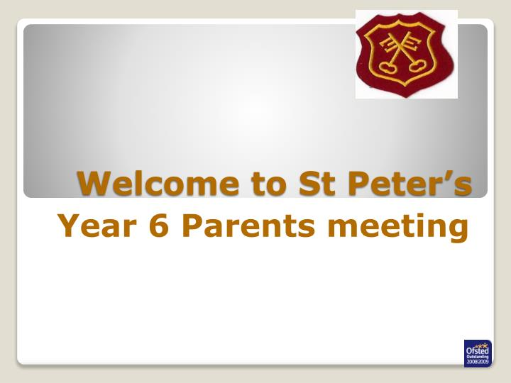 Welcome to st peter s
