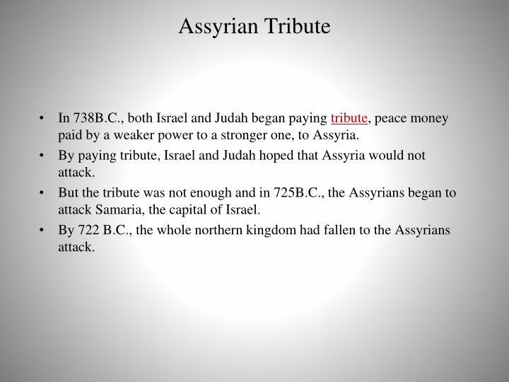 Assyrian Tribute