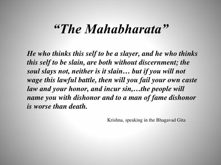 """""""The Mahabharata"""""""