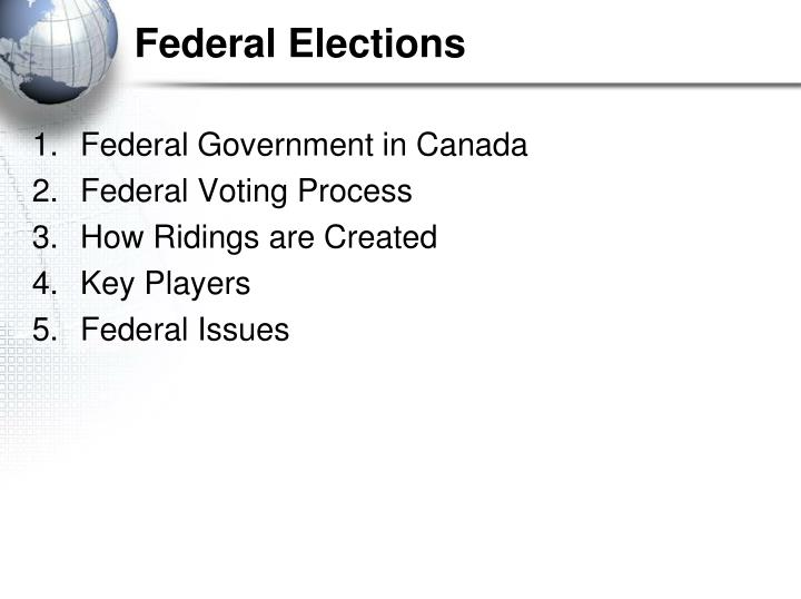Federal elections1