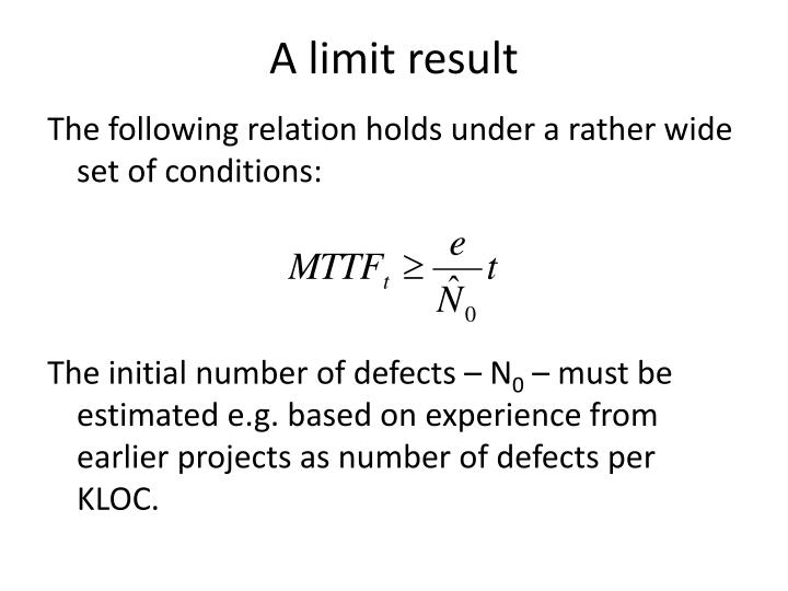 A limit result