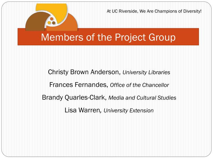Members of the project group