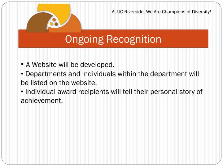 Ongoing Recognition