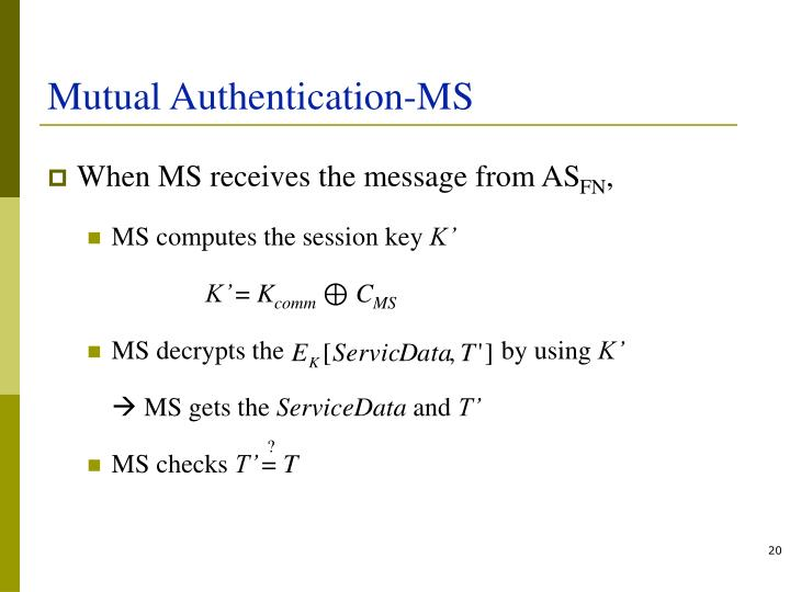 Mutual Authentication-MS