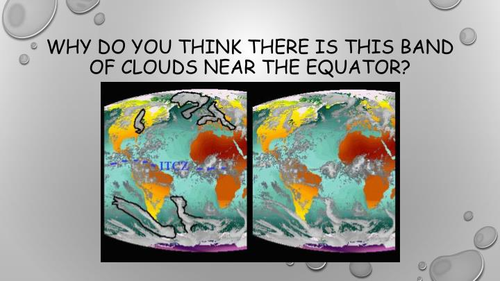 Why do you think there is this band of clouds near the equator?