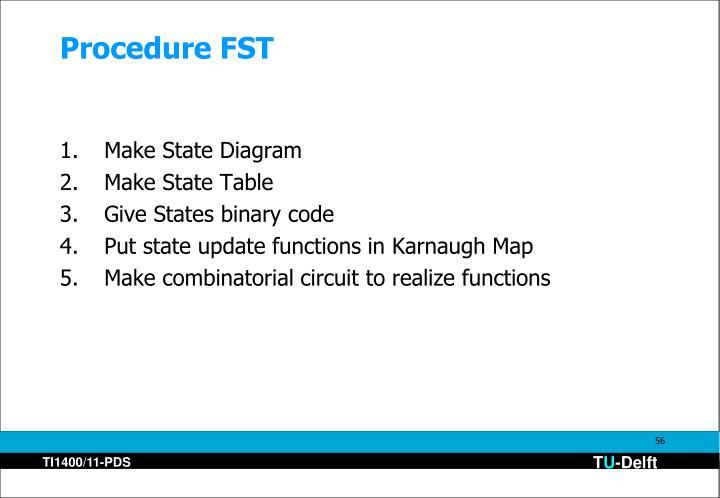 Procedure FST