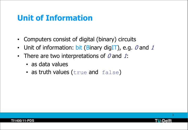Unit of Information