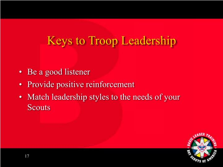 Keys to Troop Leadership
