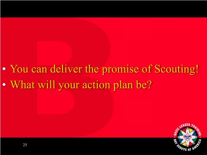 You can deliver the promise of Scouting!